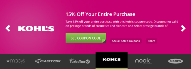 Groupon Coupons - Kohl's
