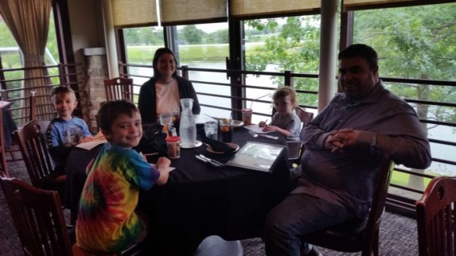 Family Dining at Weber Grill #webergram - table and scenery