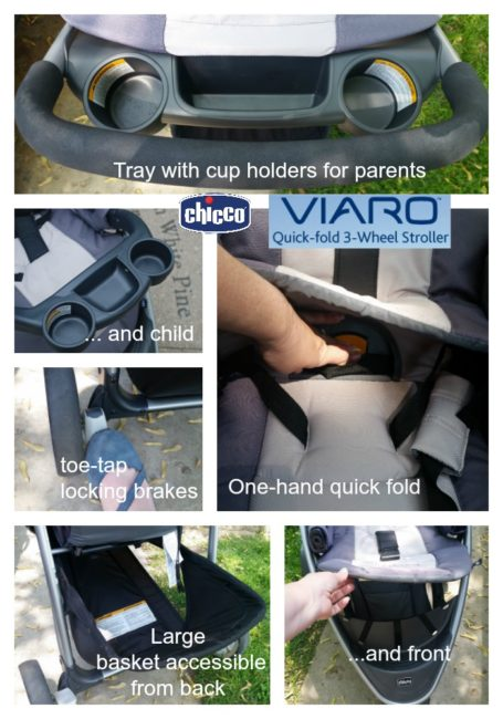 Chicco Viaro stroller features collage #ChiccoKidsCityGuide [ad]