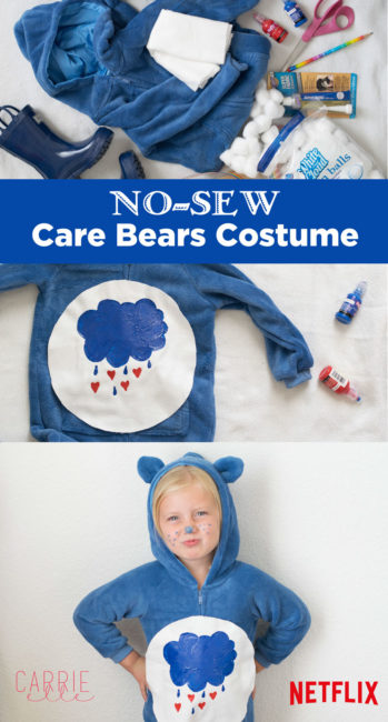 No-Sew Care Bears Costume @netflix #StreamTeam [ad]