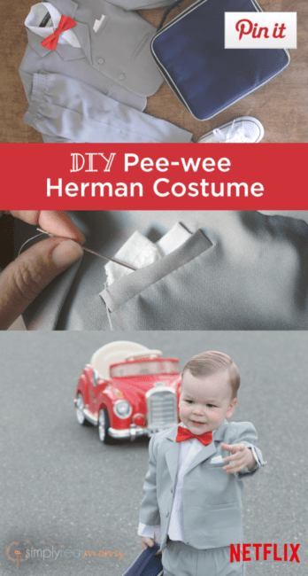 DIY Pee-Wee Herman Costume #StreamTeam @Netflix [ad]