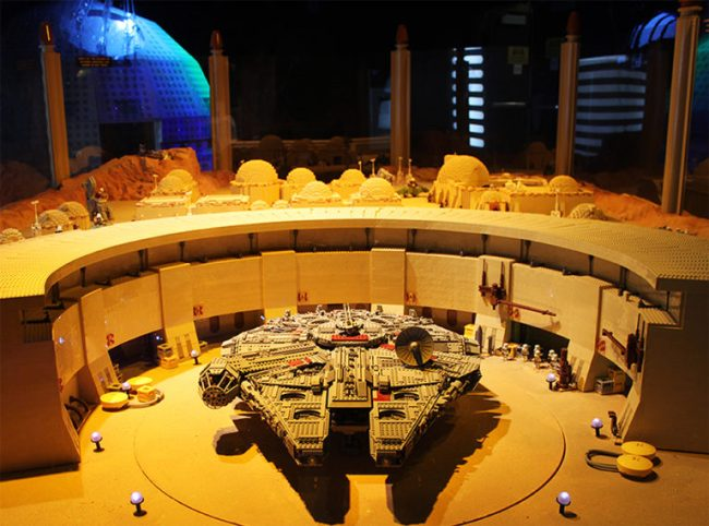 Millennium Falcon made from Legos