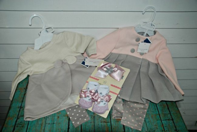 Two baby girls outfits and shoe set from Marshall's