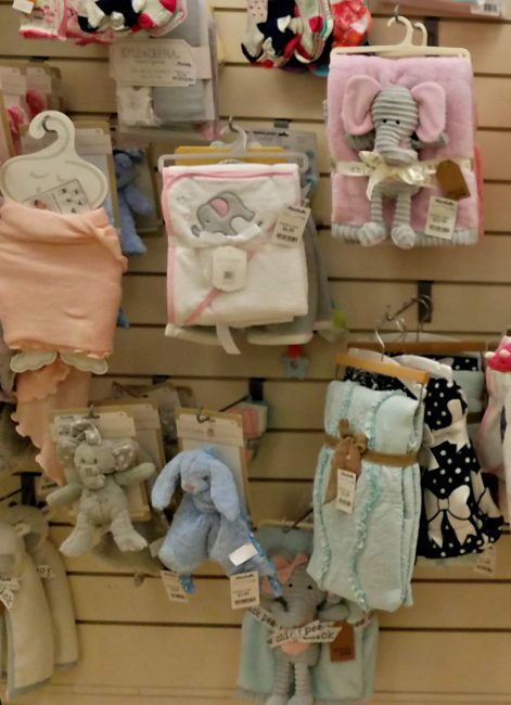 Boutique baby items available at Marshall's