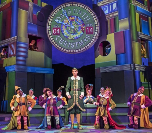 Buddy and the elves in Elf the Musical