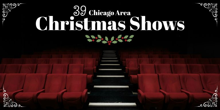 red seats in an empty theatre - Christmas Shows In Chicago