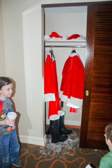 Santa's closet in the Santa Suite at the Swissotel Chicago