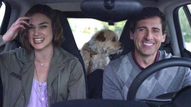 Kiera Knightly & Steve Carroll in a car