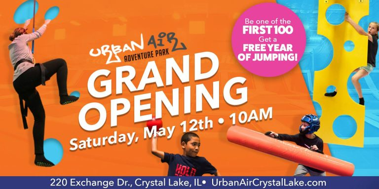 Urban air adventure opens in crystal lake toddling around chicagoland urban air adventure park is opening their new crystal lake location this weekend and celebrating with a huge grand opening celebration fandeluxe Images