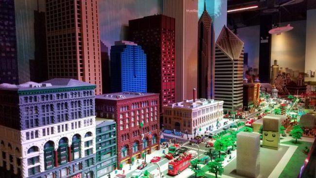 Chicago skyline from LEGO blocks