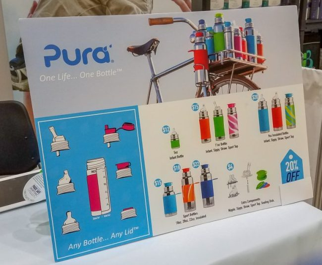Pura poster display at the Chicago Baby Show