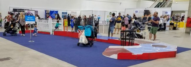 Stroller test track at the Chicago Baby Show