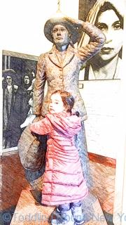 Annie Moore - the first immigrant to be processed through Ellis Island - Ellis Island New York