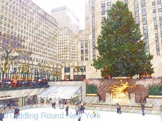 Rockefeller Center ice rink -New York ice skating