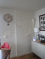 Trying the full size cows out for size on the wall