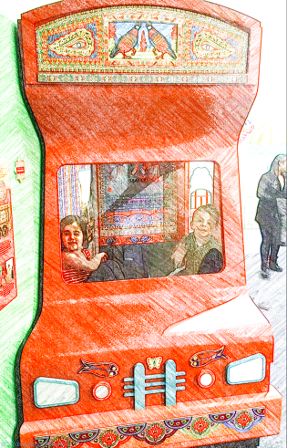 Popular traditional Pakistani bus, decorated with designs copied from real buses - Children's Museum of Manhattan