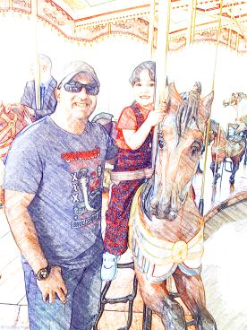 C and B on Jane's Carousel, DUMBO