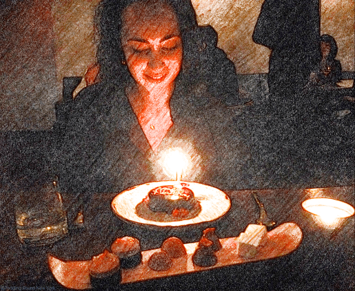 Birthday cake at The Musket Room, Elizabeth & Houston St