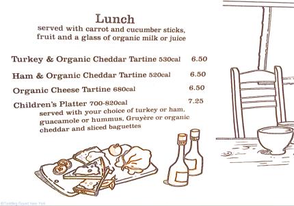 Le Pain Quotidien's children's menu, cafe, family favourite
