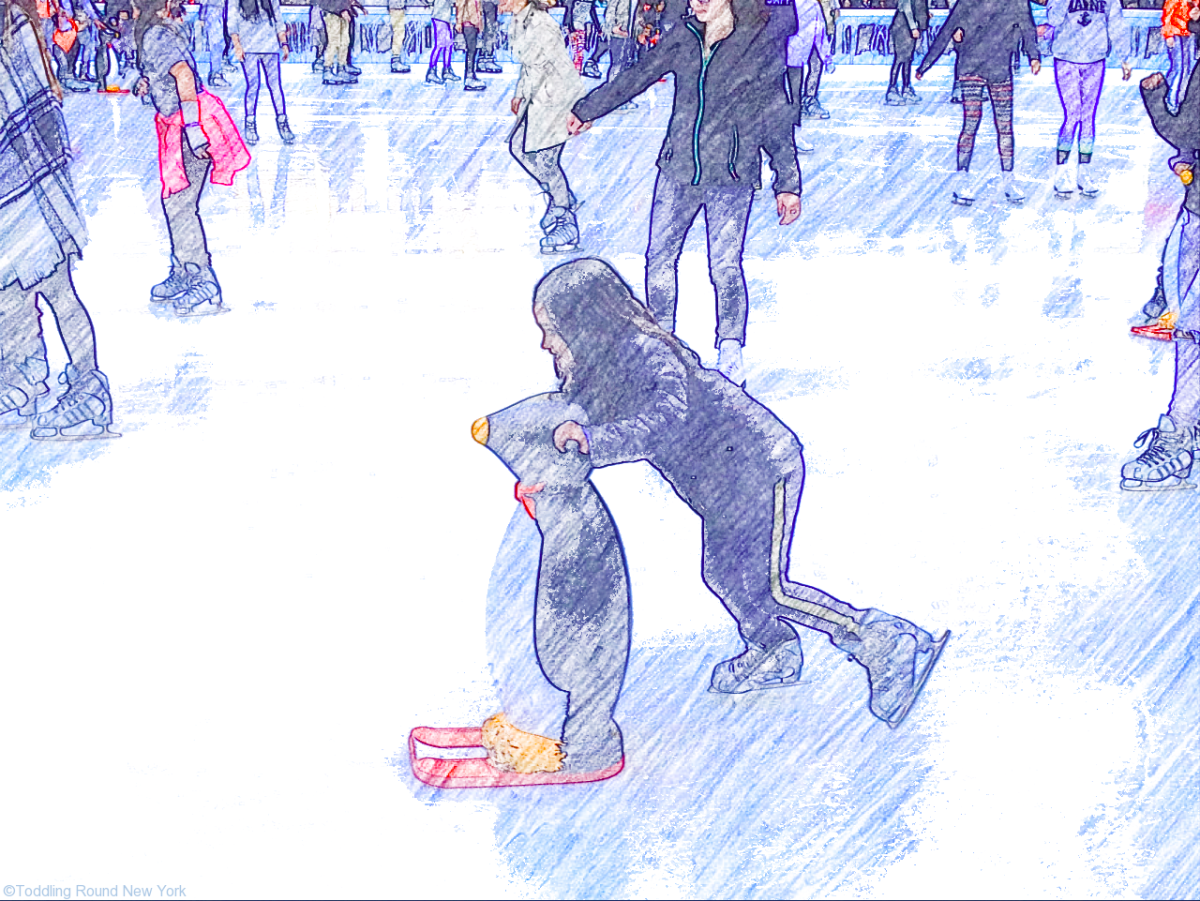 Bryant Park Winter Village - T ice skating close up