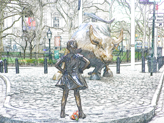 Fearless Girl and Charging Bull - Leaving New York