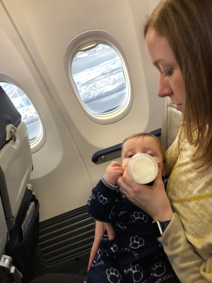 Flying with a baby tips toddling traveler