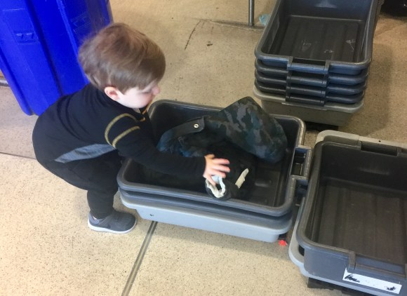 Flying with a toddler airport security