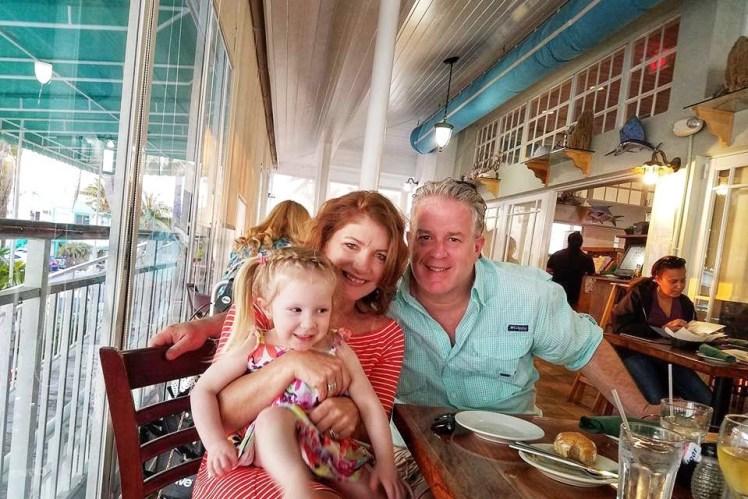 Lazy Dayz Restaurant Outdoor Seating Islamorada Family Vacation in Islamorada Florida Keys with Kids Toddling Traveler