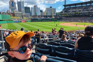 attending a sporting event with a child under 2