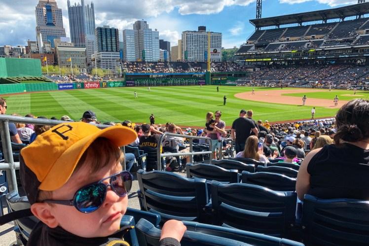 child under 2 baseball game