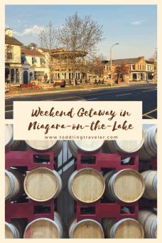Weekend getaway in niagara on the lake