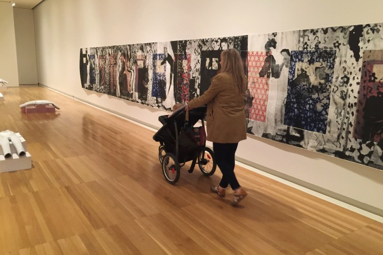 Carnegie museum of art in Pittsburgh with a Toddler