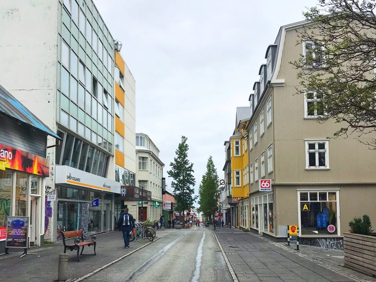 Laugavegur street reykjavik 3 days in iceland Toddling Traveler