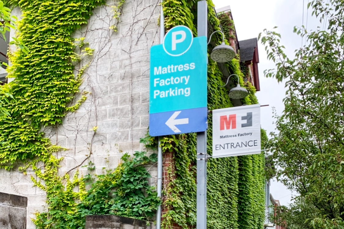 Parking at the Mattress Factory Museum Pittsburgh Toddling Traveler