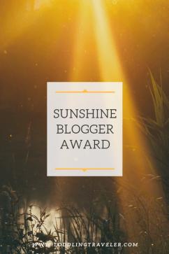 2019 Sunshine Blogger Award Nomination Toddling Traveler