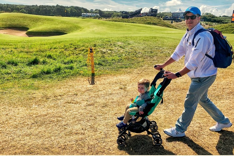 Bring a Stroller to the Open with Kids Toddling Traveler