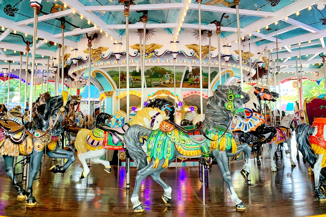 Carousel Rides for Toddlers at Hershey park Weekend Trip Toddling Traveler