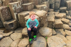 Giant's Causeway with a Toddler Norther Ireland with Kids Itinerary Toddling Traveler