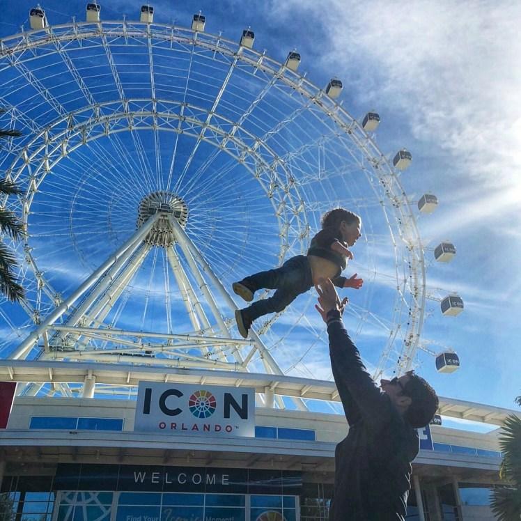 The Wheel at Icon Park Orlando at Christmas Toddling Traveler