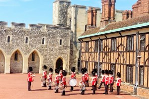 Changing of the Guard at Windsor Castle Things to Do During a Long Layover in London with Kids Toddling Traveler