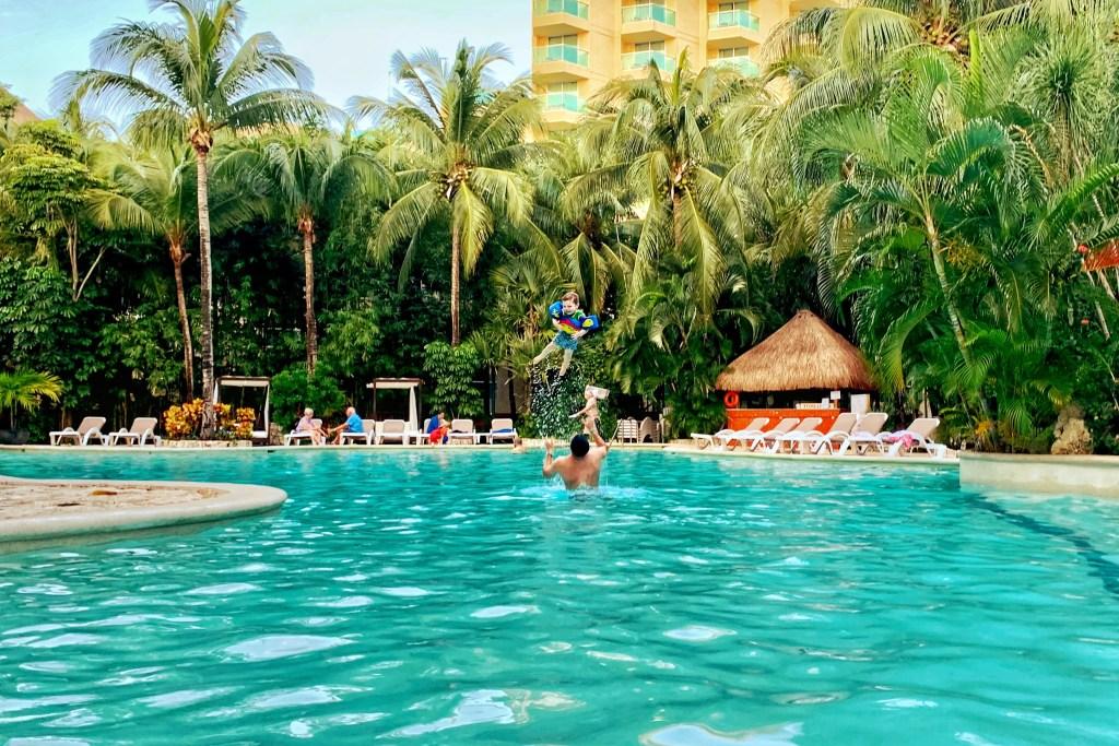 Grand Park Royal Cozumel Pool Toddling Traveler