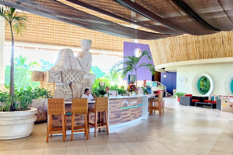 Open Air Lobby at Grand Park Royal Cozumel Toddling Traveler