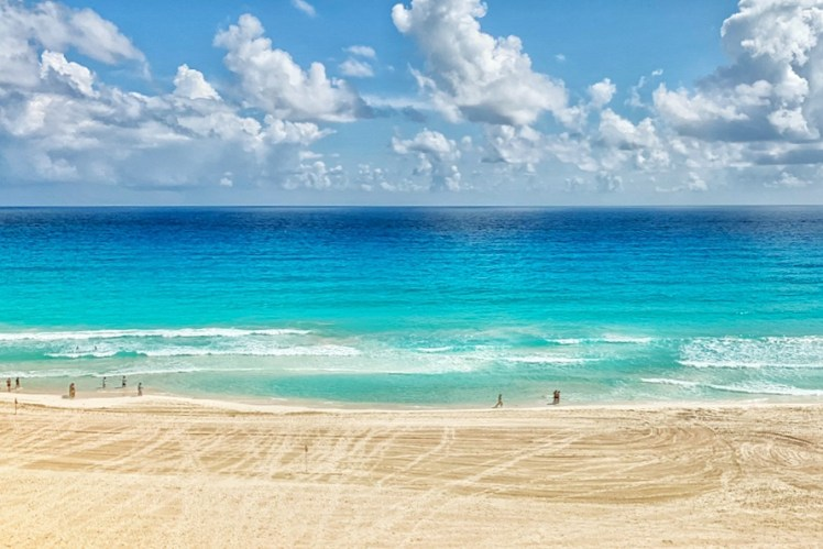Beach at Grand Park Royal Cancun Luxury Resort Toddling Traveler