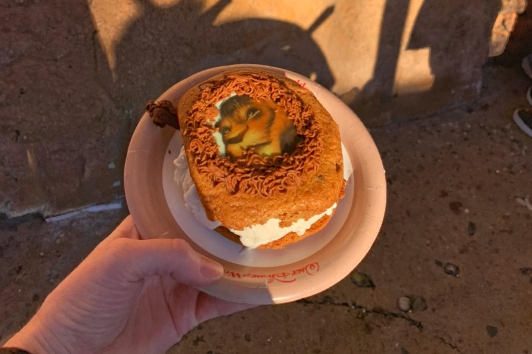 Lion King Cookie Sandwich Best Snacks at Animal Kingdom Toddling Traveler
