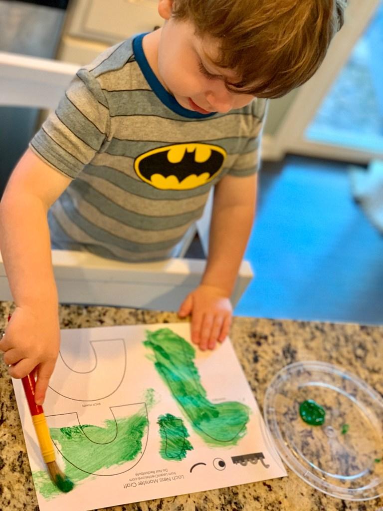 Loch Ness Monster Craft Travel From Home Toddling Traveler