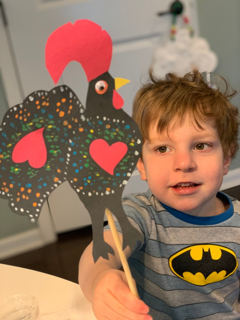 Gallo de Barcellos Portuguese Rooster Craft for Kids Toddling Traveler Travel from Home