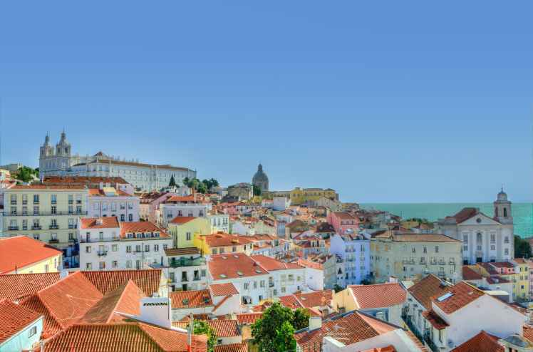 city lisbon houses portugal travel from home Toddling Traveler