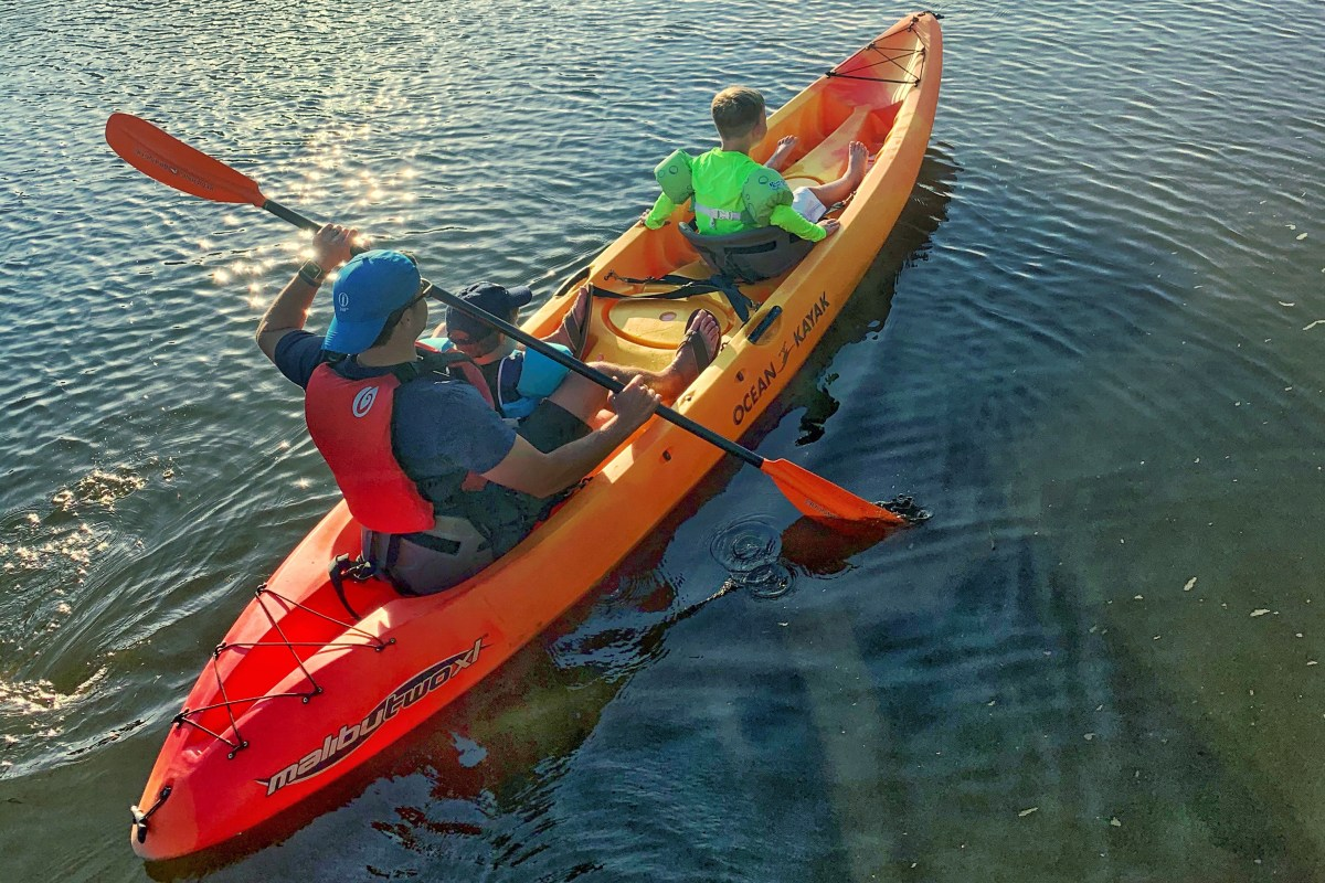 Kayaking in Sandbridge, VA Back Bay Toddling Traveler