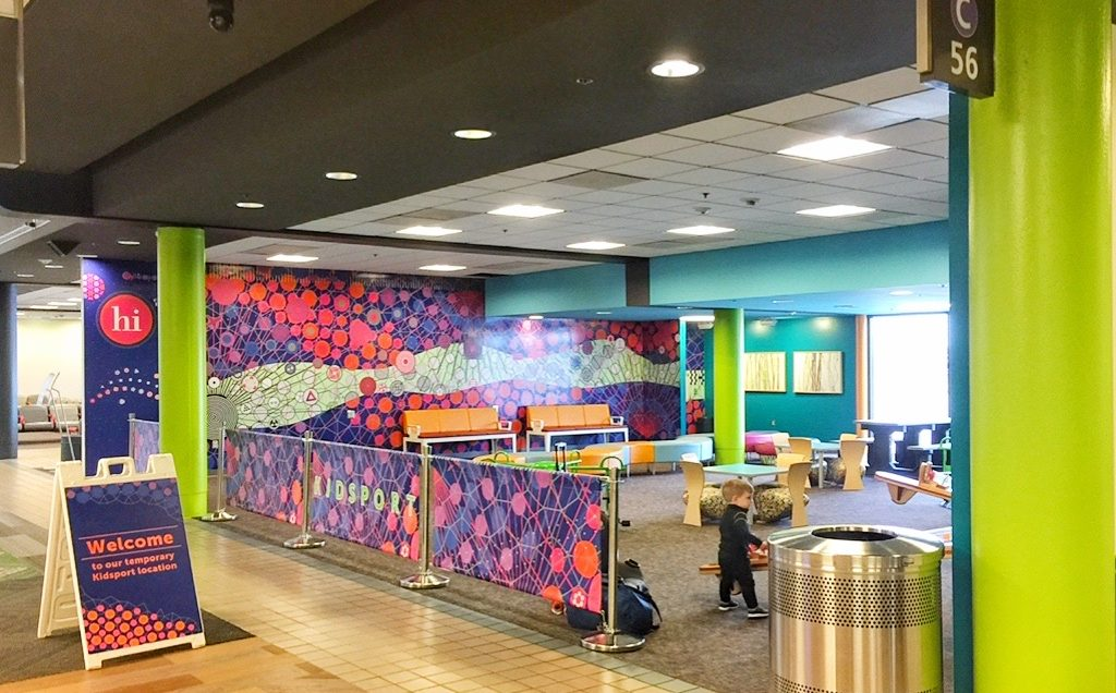 Kids Area at Pittsburgh airport in Concourse C Flying with a Baby Toddling Traveler