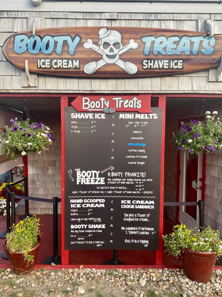 Booty Treats Ice Cream in OBX Toddling Traveler